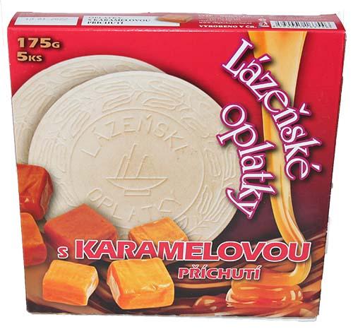 Lázeňské oplatky s karamelovou příchutí 175g