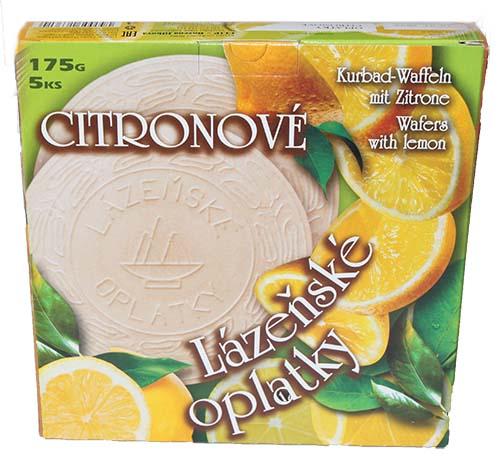 Lázeňské oplatky citronové 175g