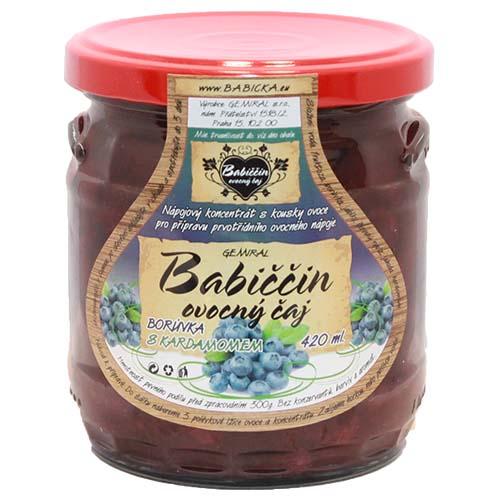 Babiččin ovocný čaj - Borůvka s kardamomem, 420ml