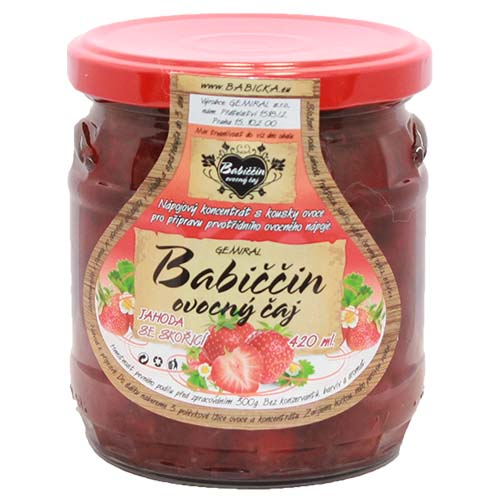 Gemiral Babiččin ovocný čaj Jahoda se skořicí 420ml