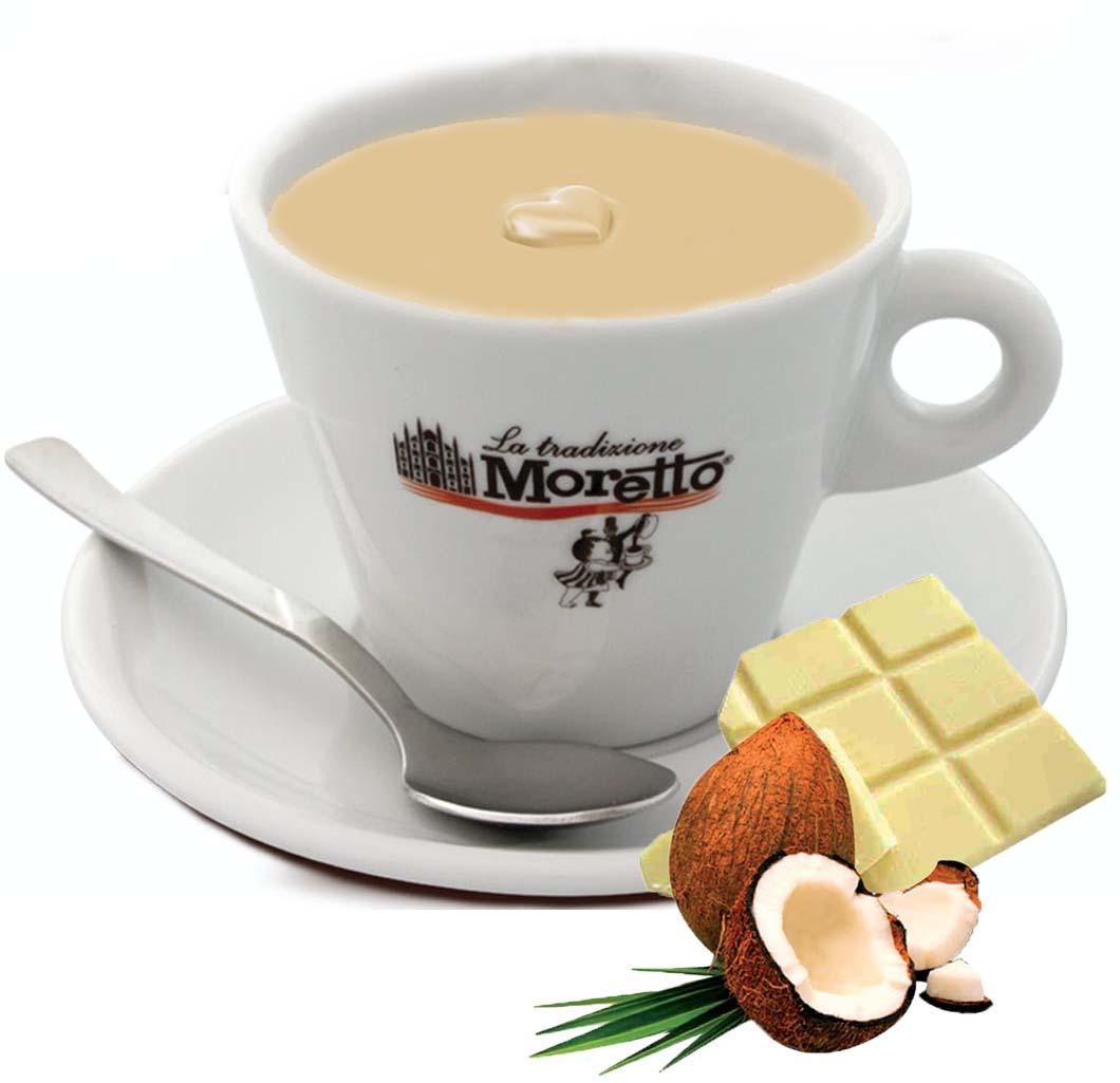 Horká čokoláda Moretto - Bílá s kokosem 30g