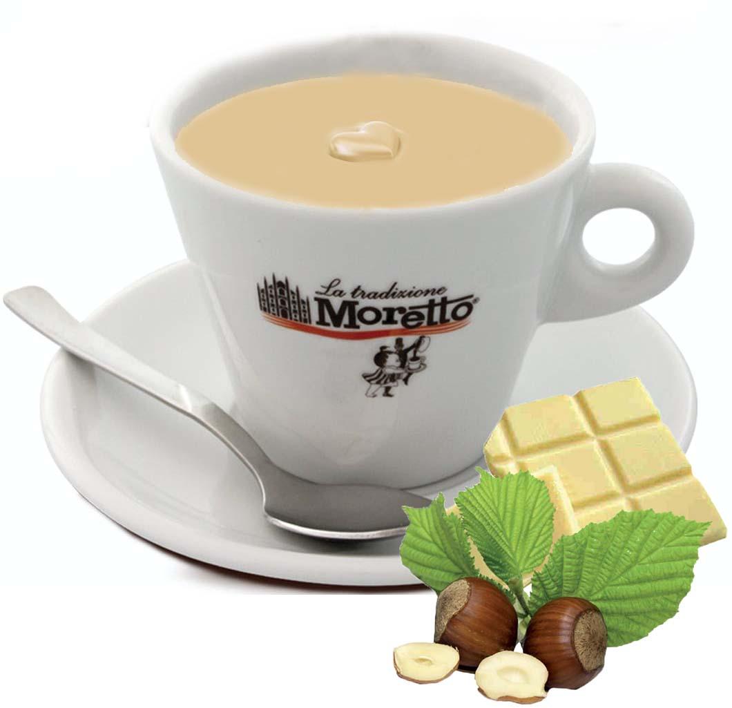 Horká čokoláda Moretto - Bílá s oříšky 30g