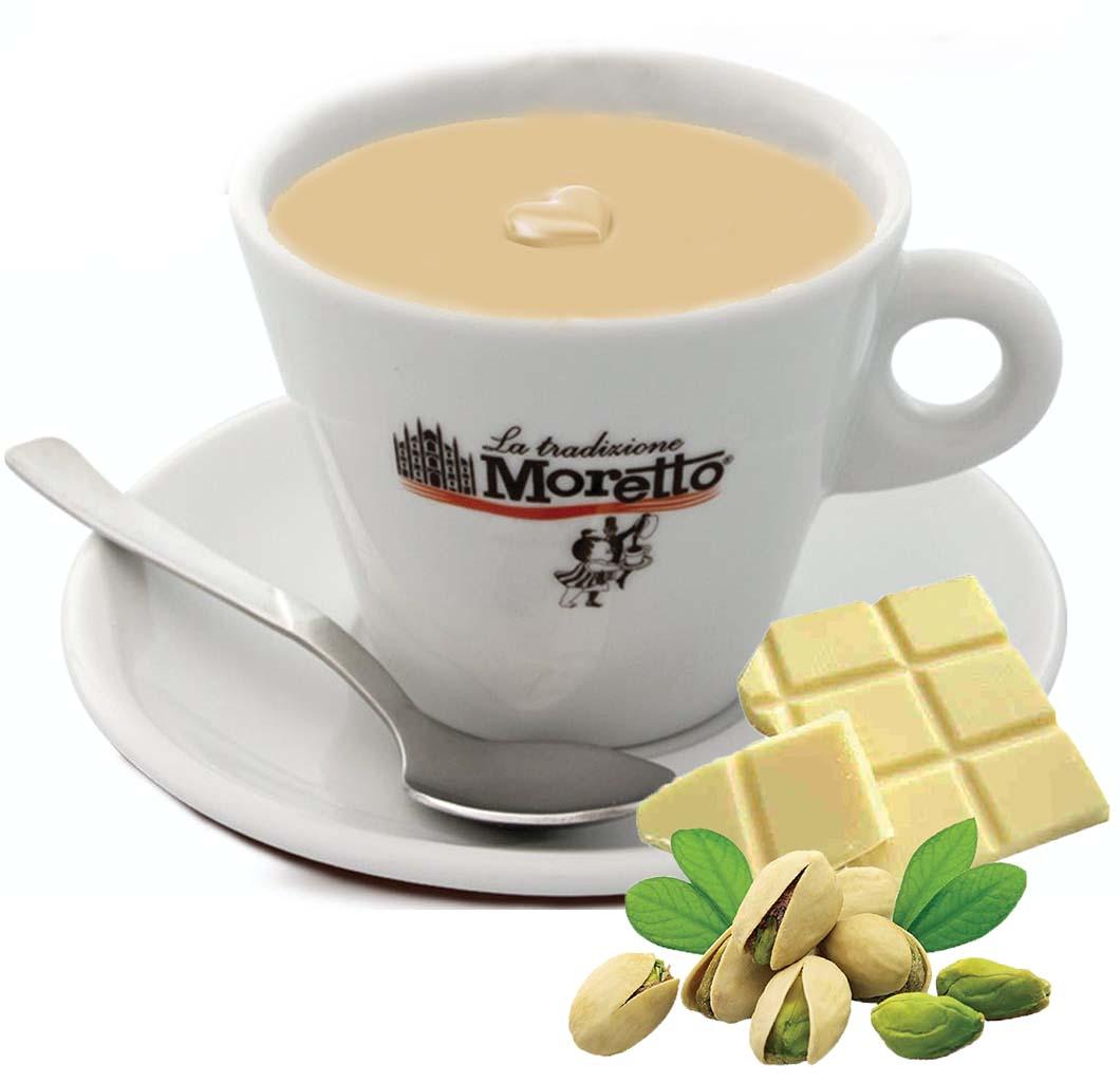 Horká čokoláda Moretto - Bílá s pistácií 30g