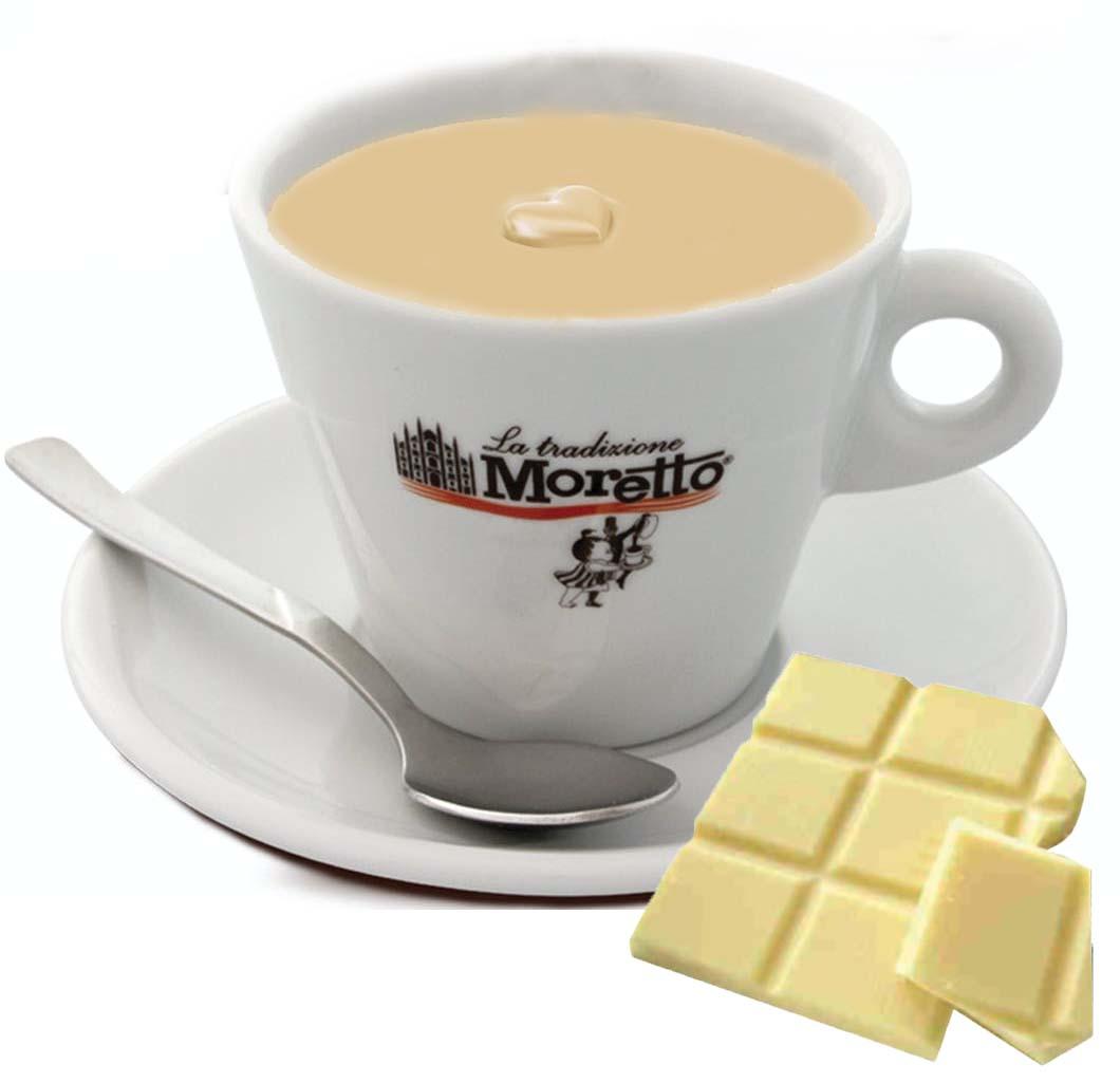 Horká čokoláda Moretto - Bílá 25g