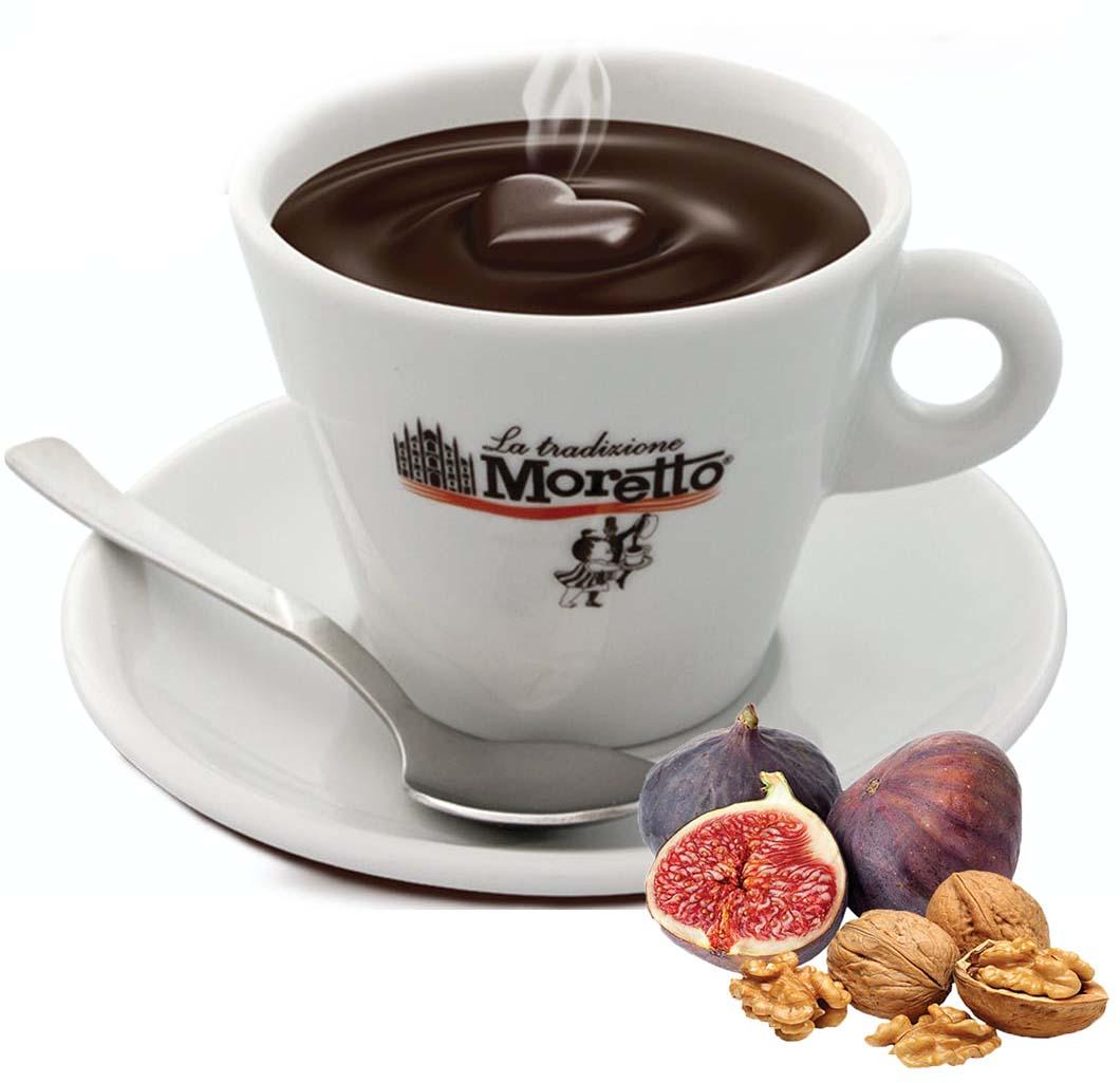 Horká čokoláda Moretto - Fíky s oříšky 30g