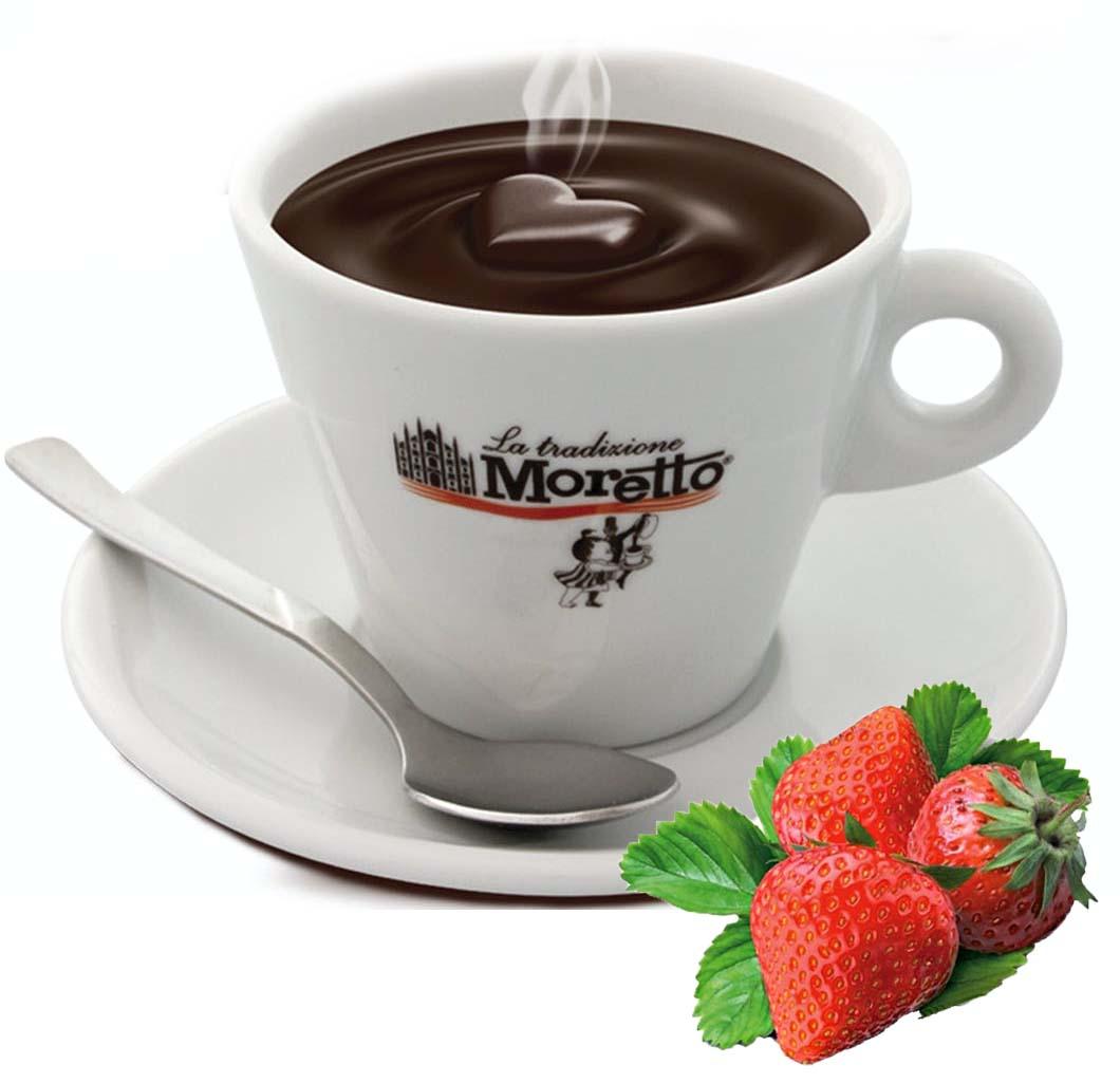 Horká čokoláda Moretto - Jahodová 30g