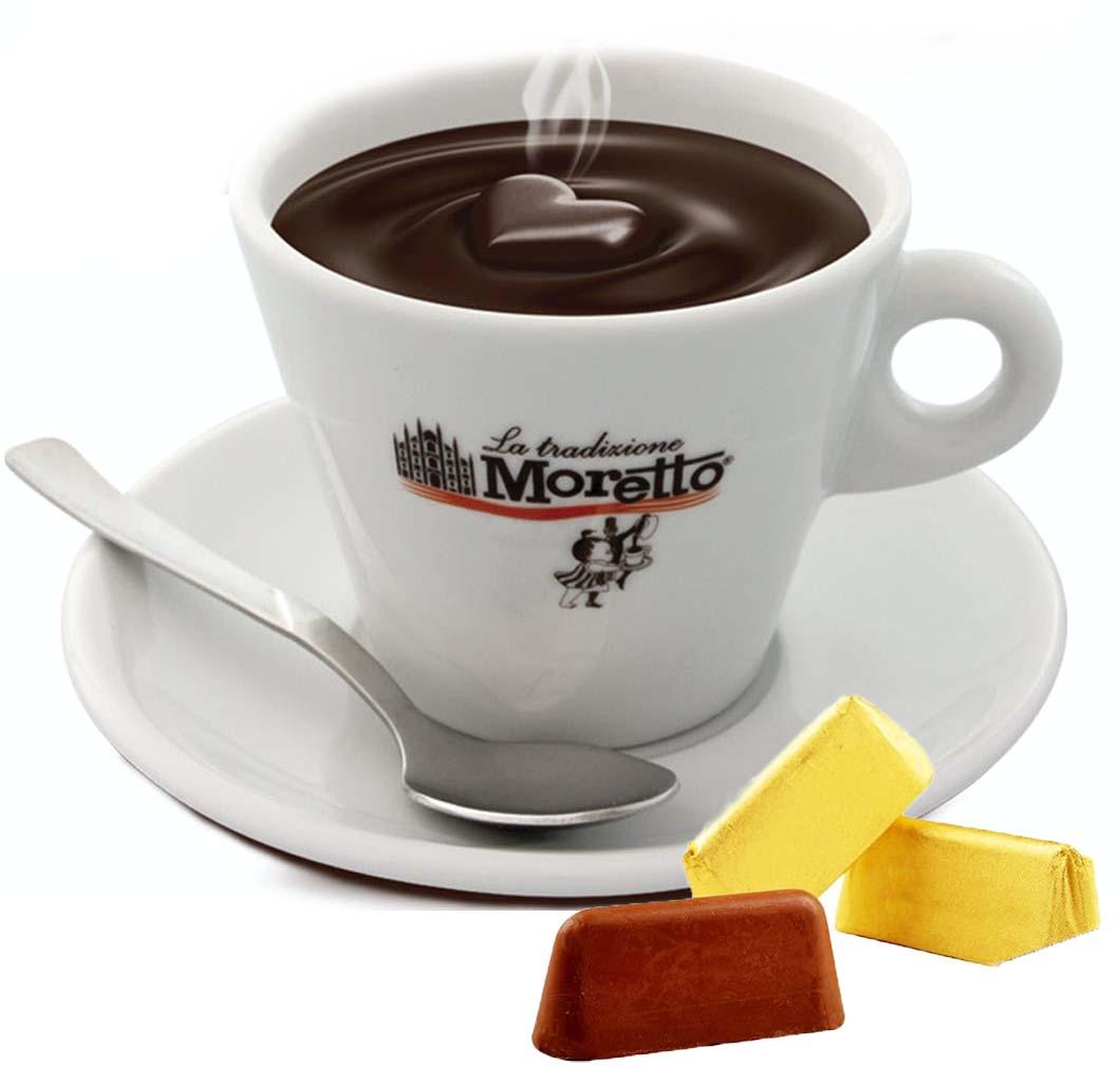 Horká čokoláda Moretto - Nugátová 30g