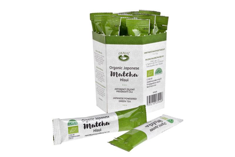 Práškový zelený čaj Matcha Hisui BIO, 15x2g