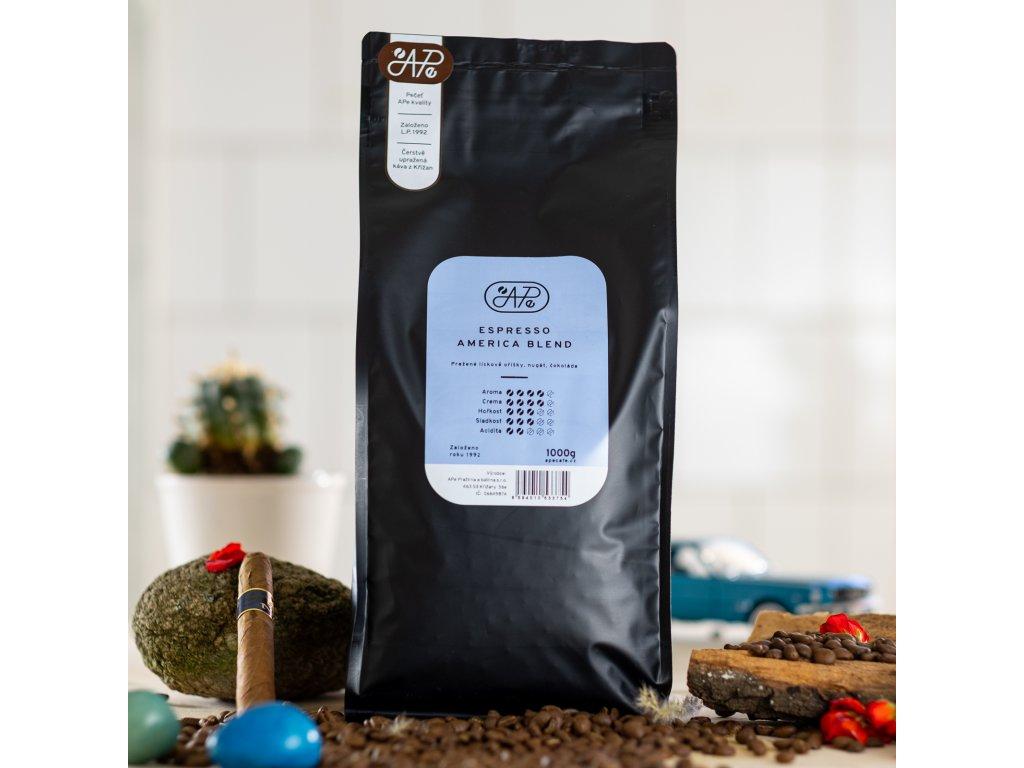 Zrnková káva Ape - Espresso America blend 1000g