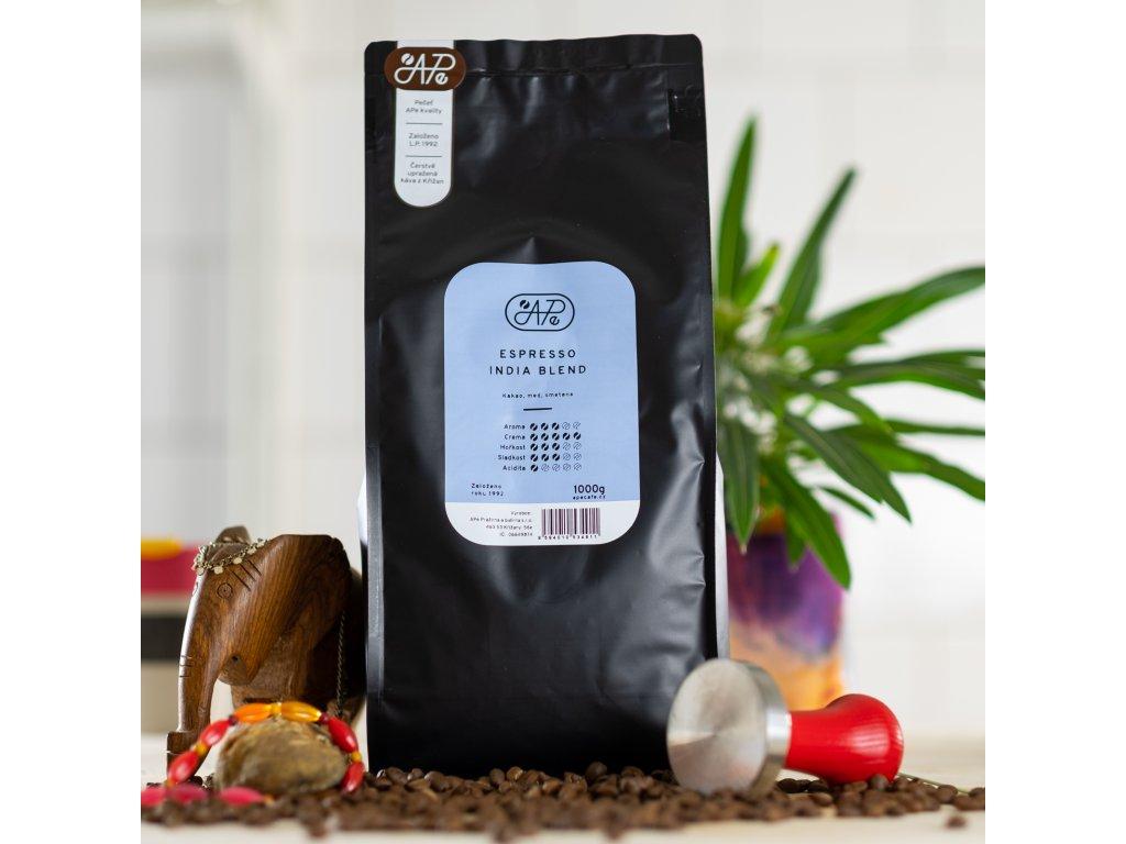 Zrnková káva Ape - Espresso India blend, 1000g