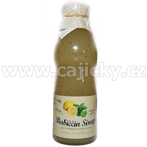 Nature NoTea Babiččin sirup Citron s limetkou a mátou 500 ml