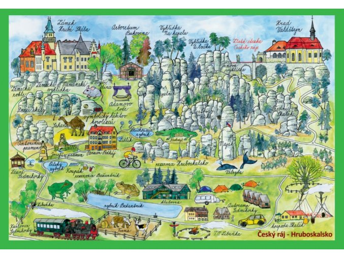 Pohled Hruboskalsko mapa