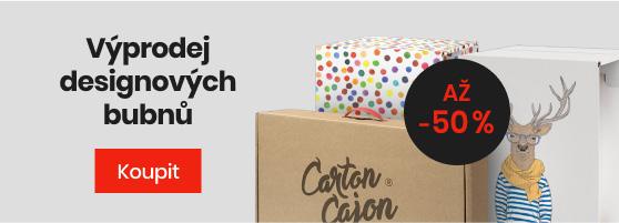 Výprodej designových bubnů Carton Cajon