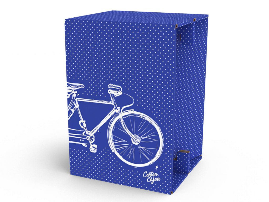 Carton Cajon Double Bike Blue 1