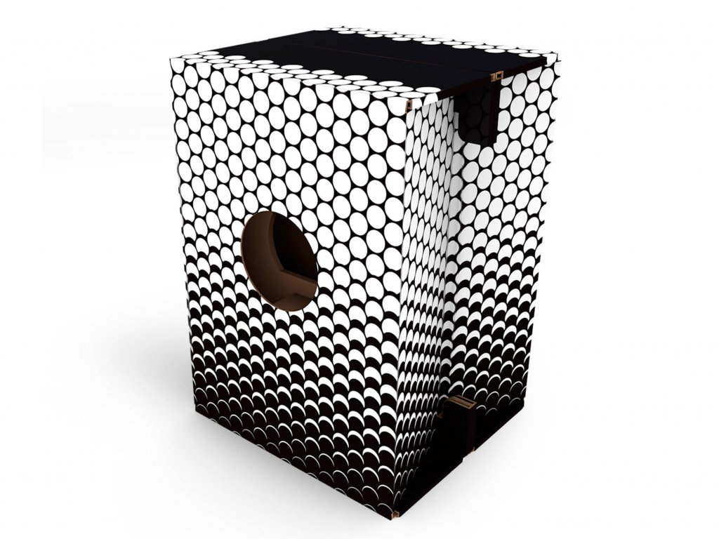 Carton Cajon Black White Dots 1