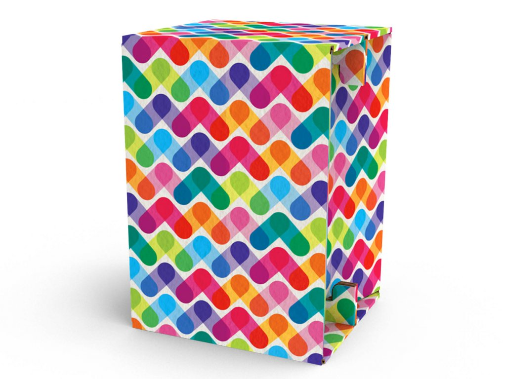 Carton Cajon Colored Stripes 1