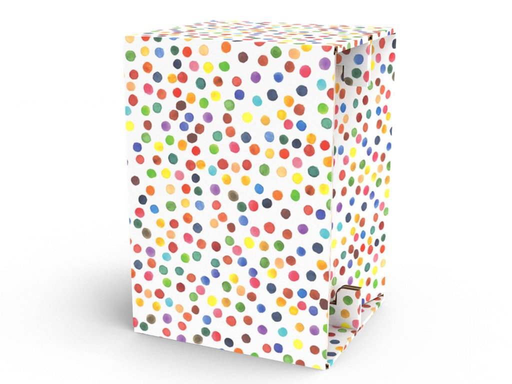 Carton Cajon Happy Dots 1