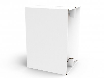 Carton Cajon White Laminated 1