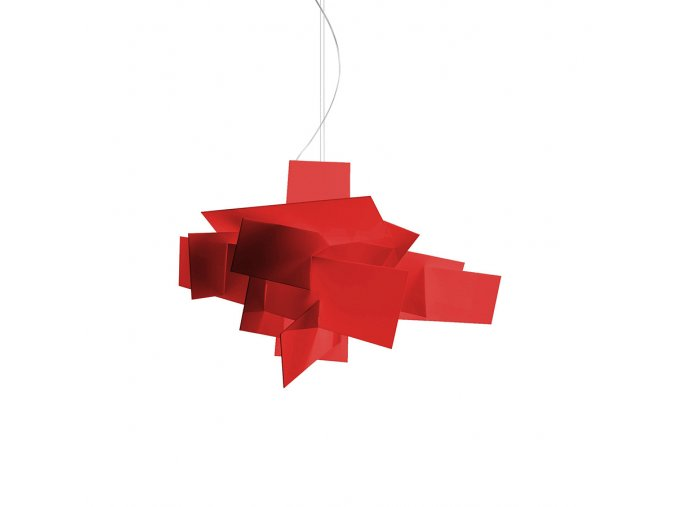 2051 foscarini big bang led red 151007l 63 zavesne cervene