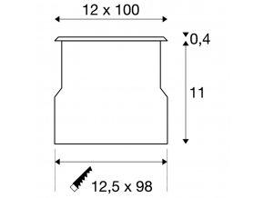 106892 slv 230110 dasar t5 zapustny profil 230v g5 21w 90 ip67