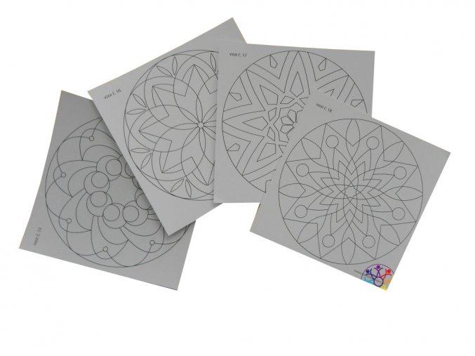 Samolepky pro pískovené mandaly (20x20 cm)