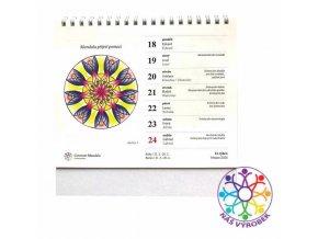 Stolní mandalový kalendář