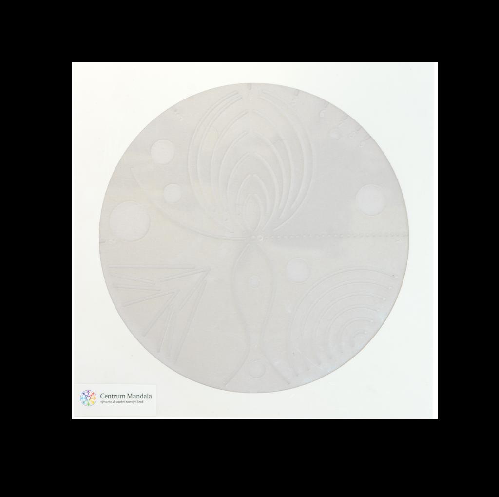 Mandalový dárkový balíček s kalendářem nebo šabonou na tvoření mandal šablona pro tvorbu mandal