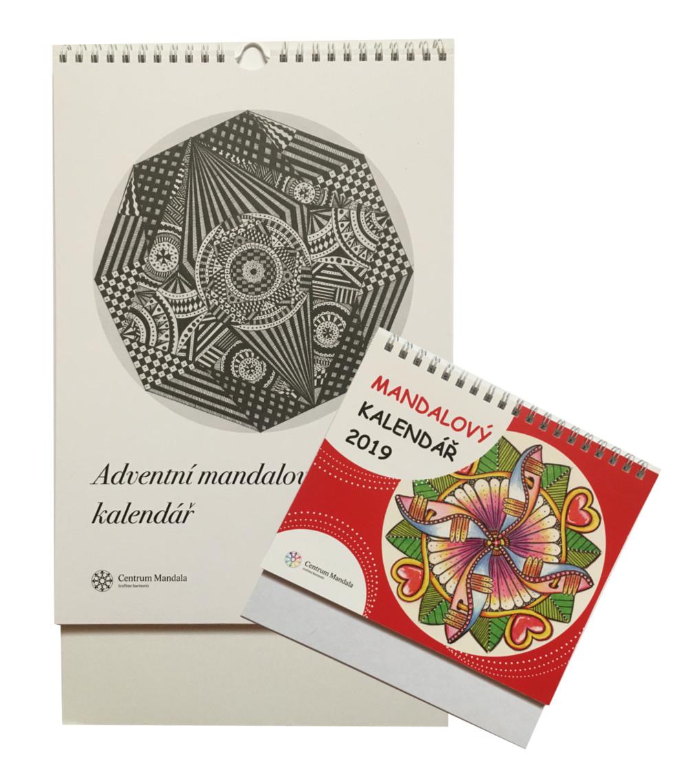 Mandalový dárkový balíček s kalendářem nebo šabonou na tvoření mandal mandalový kalendář