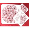 Plastová mandalová šablona (3 vzory, 3 velikosti)