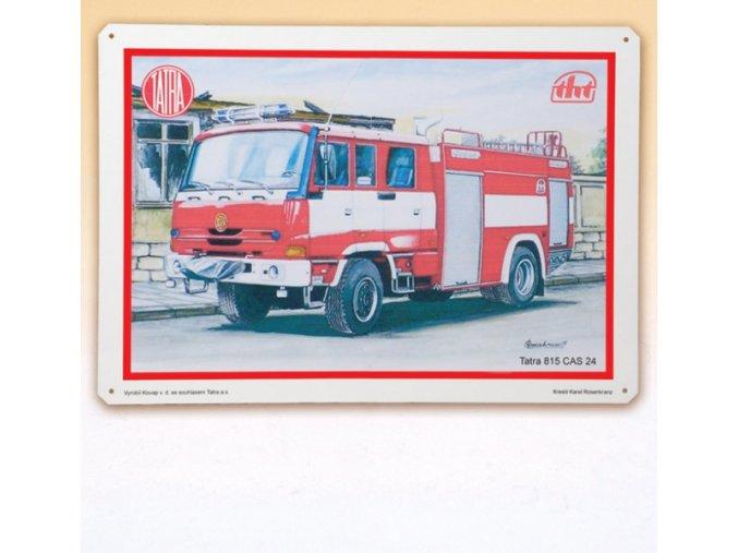 Tatra 815 CAS hasič - plechová tabule