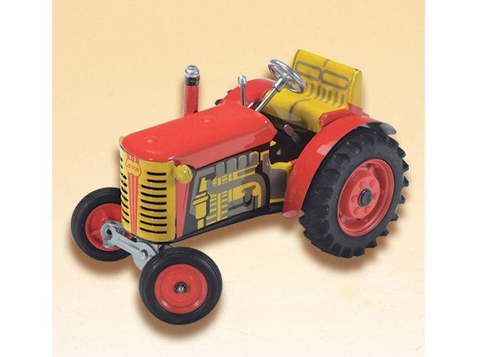 Traktor Zetor červený