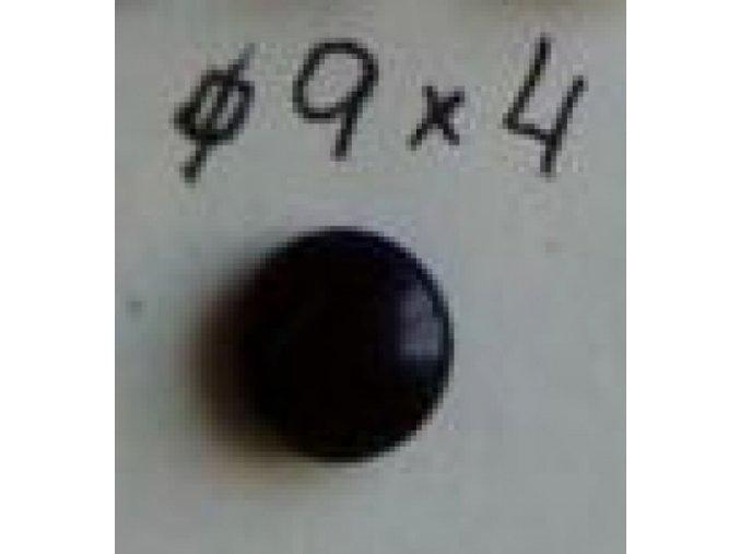 Oko sklo černé 9x4