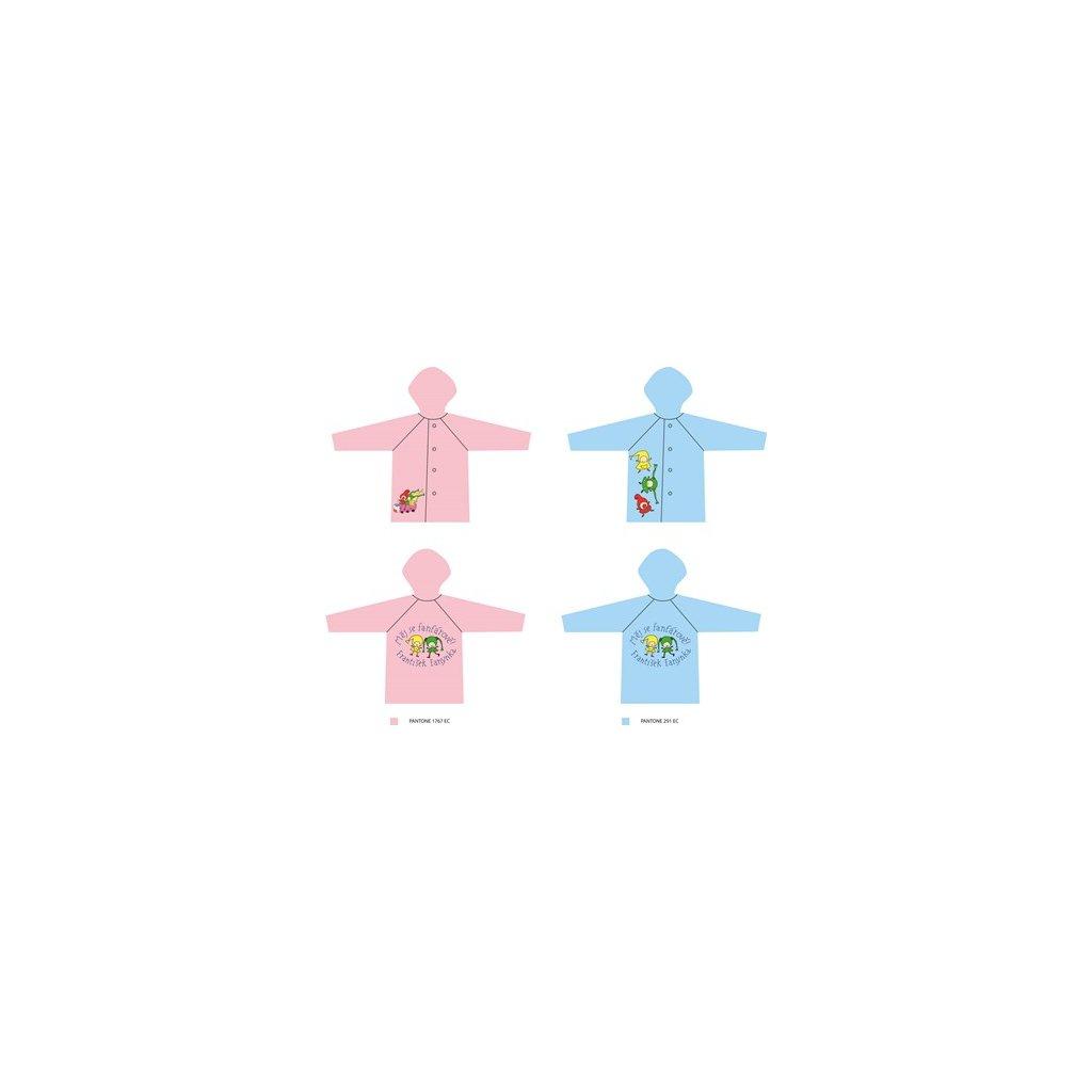 Pláštěnka Kouzelná školka / růžová