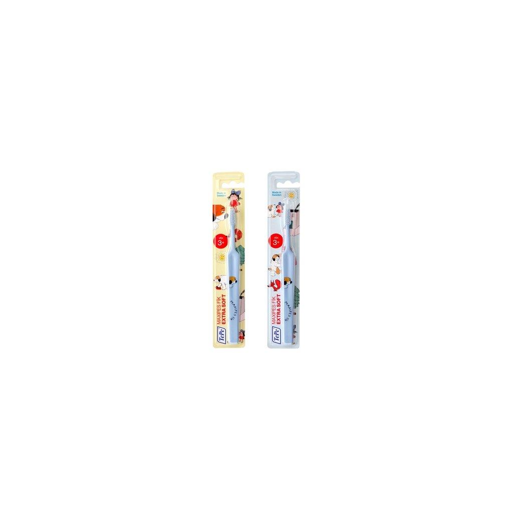Zubní kartáček TePe Select Compact x-soft s MAXIPSEM FÍKEM  - modrý