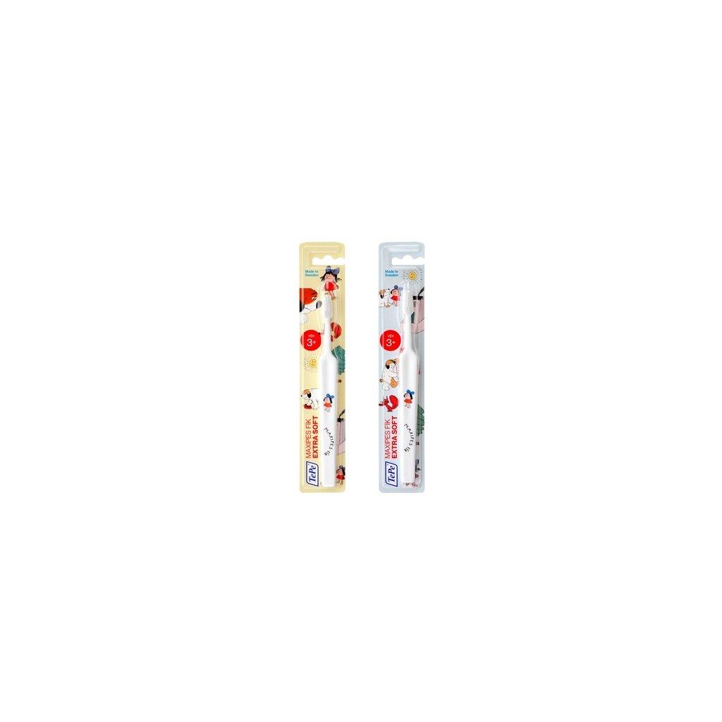 Zubní kartáček TePe Select Compact x-soft s MAXIPSEM FÍKEM - bílý