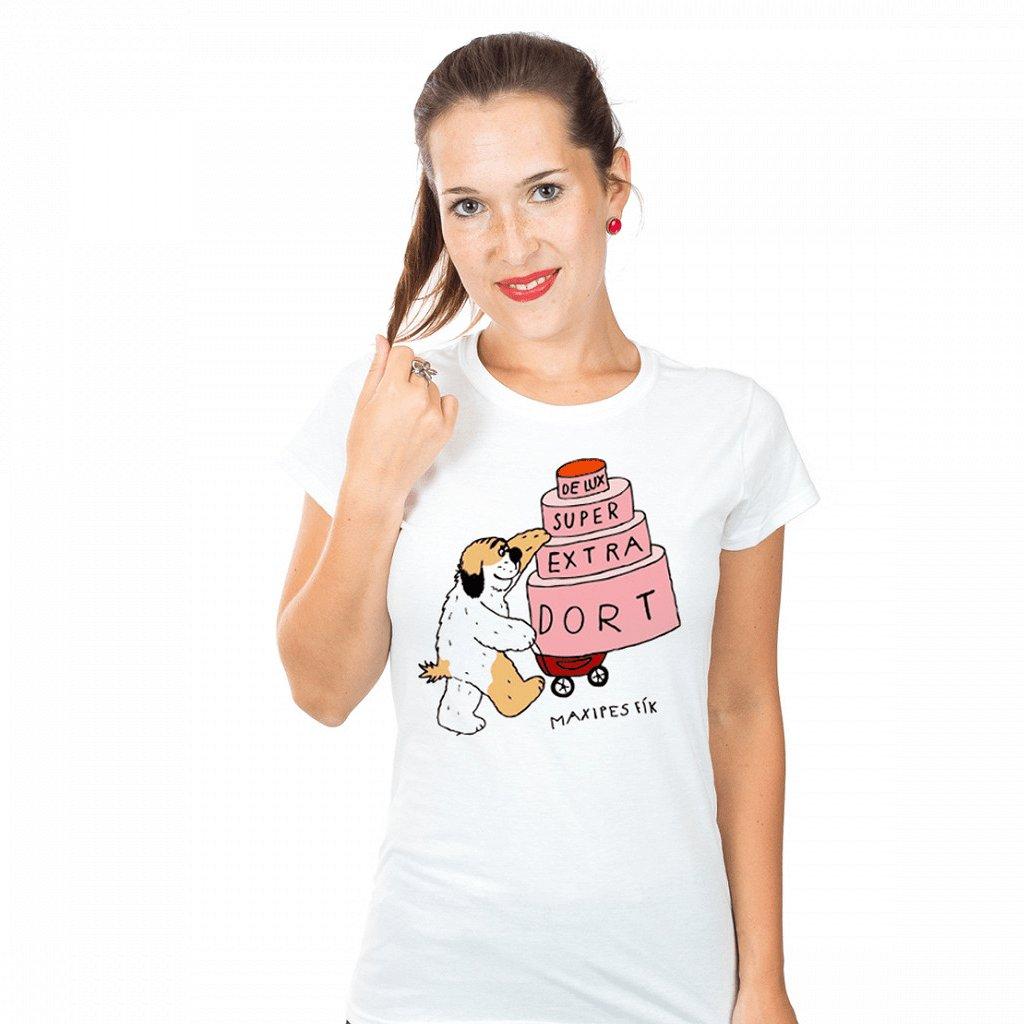 MF tričko dámské De lux super extra dort 1024x1024