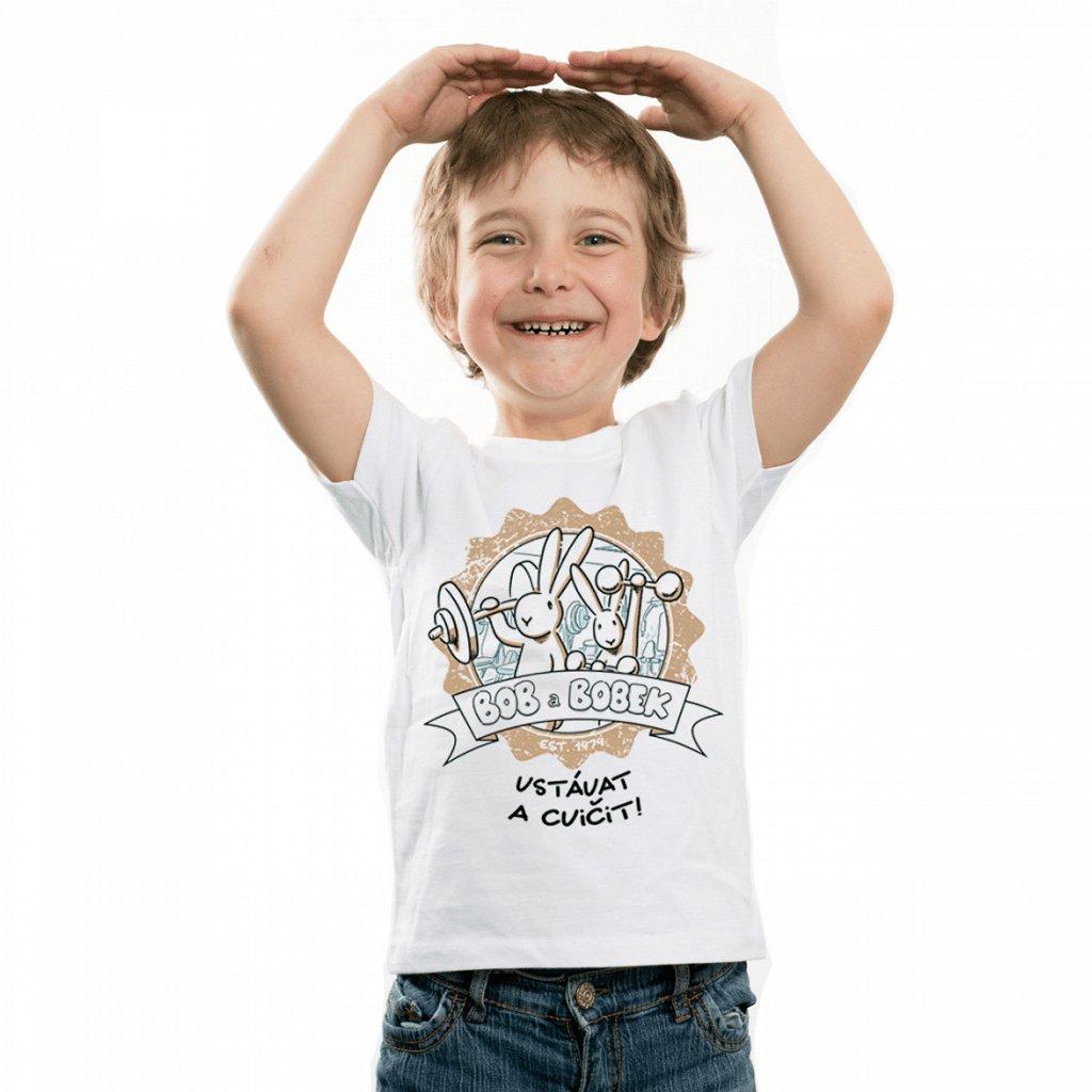 BB tričko dětské Vstávat a cvičit! 1 1024x1024