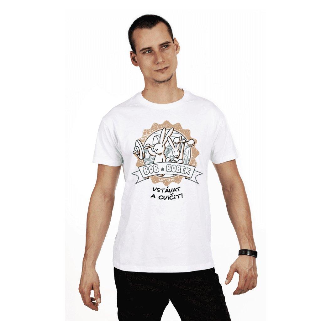 BB tričko pánské Vstávat a cvičit!