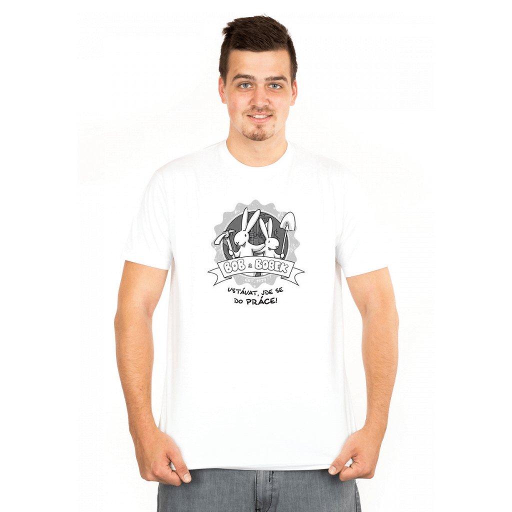 BB tričko pánské Vstávat, jde se do práce!