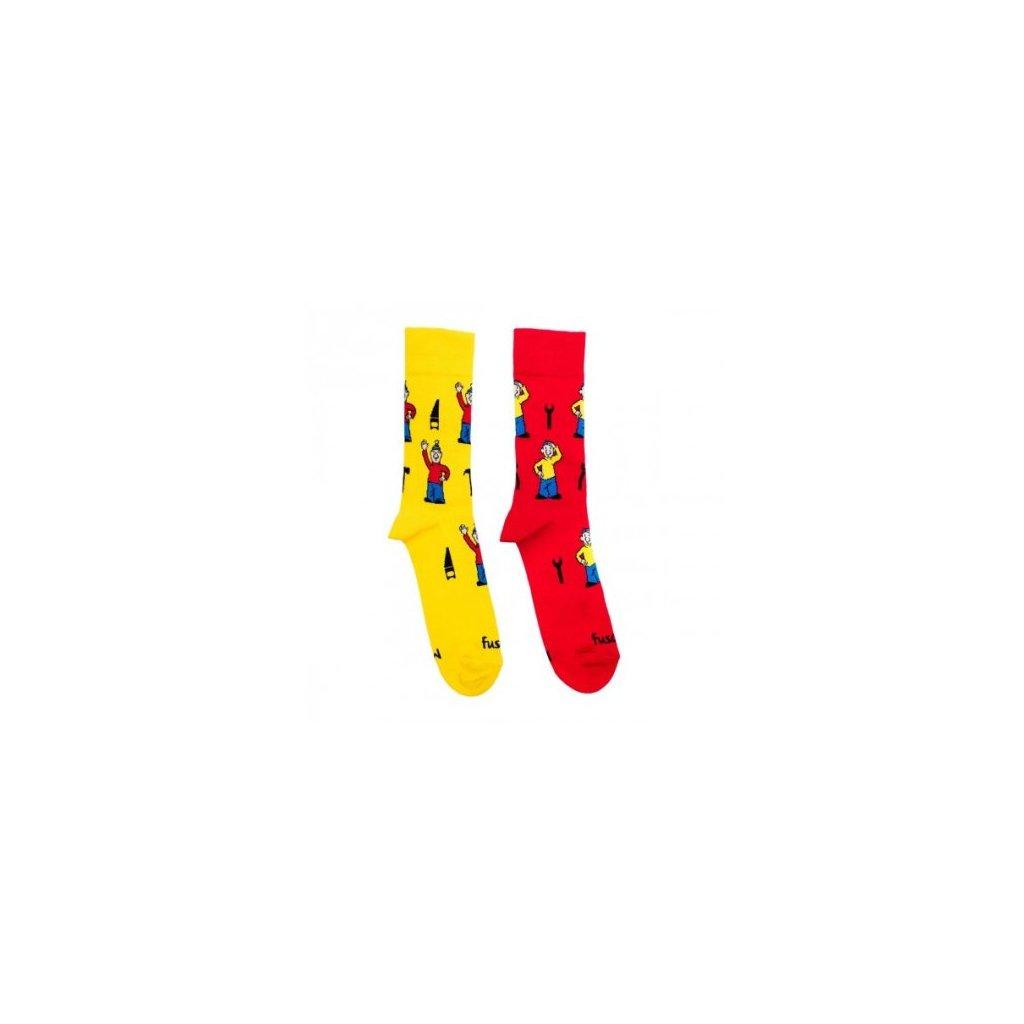 4593 ponozky s motivem pat a mat pro deti