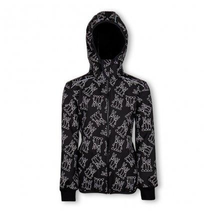 softshell bunda černá dětská web