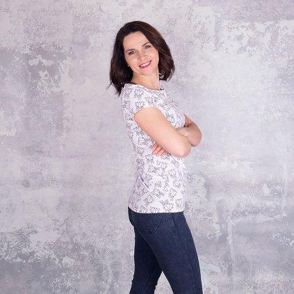 tričko dámské bílé web