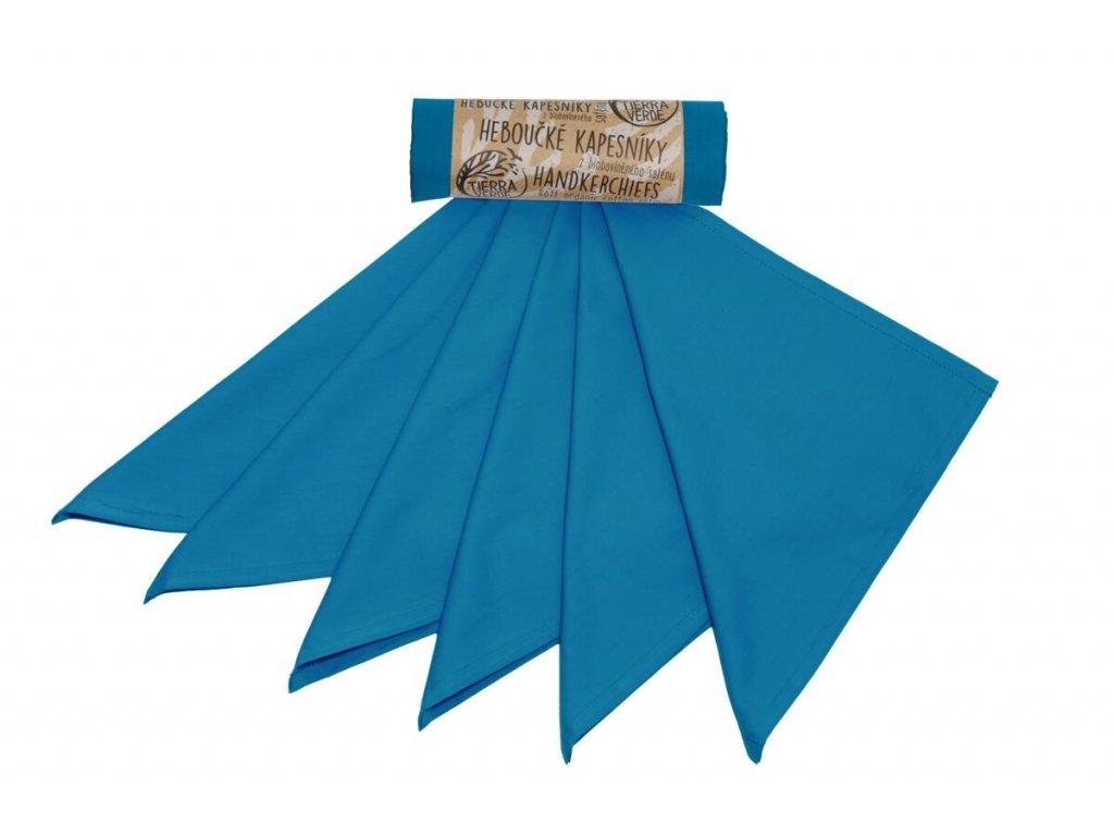 Tierra Verde – Kapesníky pánské – tealová modrá (36×36 cm) 6 ks, 1 ks