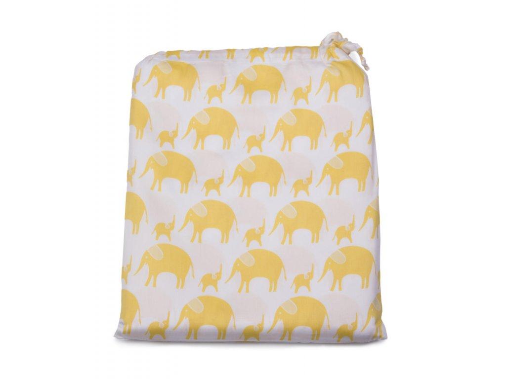 Tierra Verde – Povlečení dětské – žlutý slon (135×100 + 60×40 cm), 1 ks