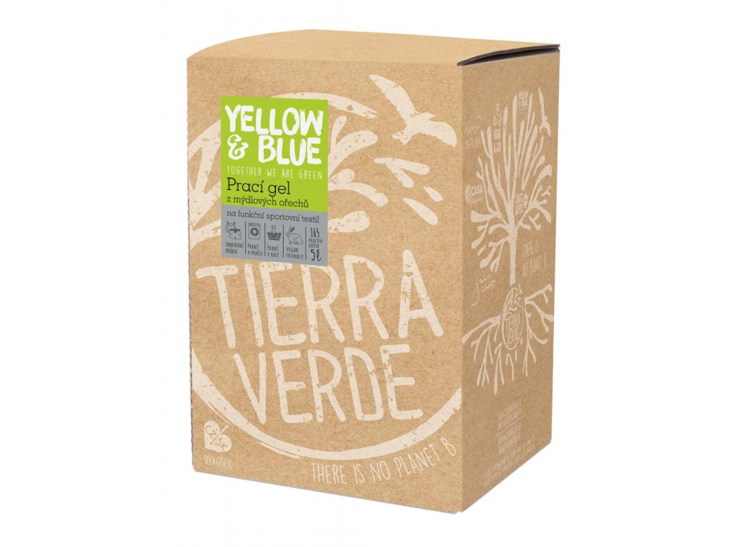 Tierra Verde – Prací gel sport (Yellow & Blue), 5 l