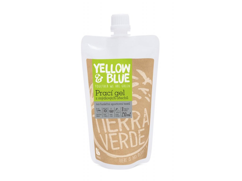 Tierra Verde – Prací gel sport (Yellow & Blue), 250 ml