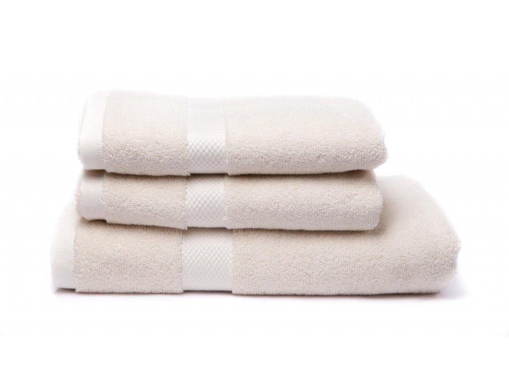 Tierra Verde – Sada dvou ručníků a osušky – natural, 1 ks