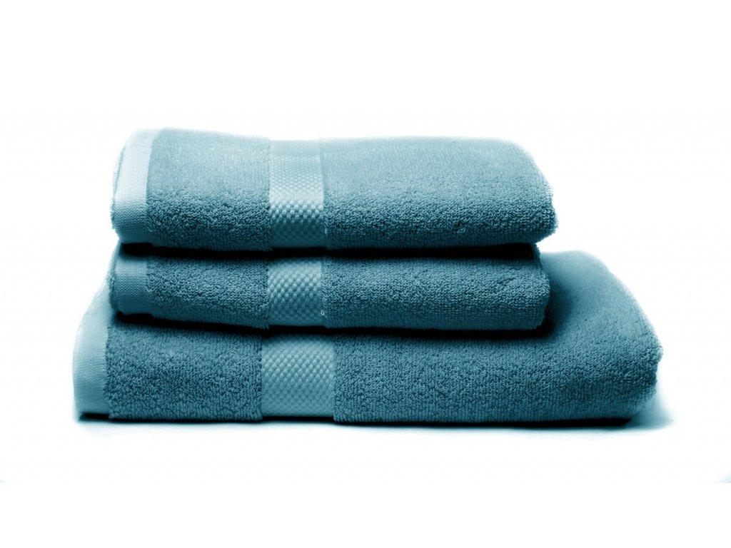 Tierra Verde – Sada dvou ručníků a osušky – tealová, 1 ks