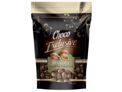 mandle v mléčné čokoládě 700g