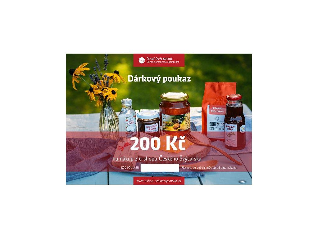 darkovy poukaz 200 kc
